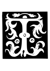 Malarbild-dekorativa-bokstaever-t-tt19020