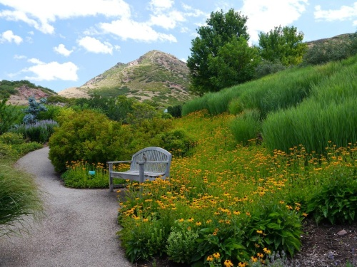 In Utah are wonderful gardens. Red Butte Garden was amazing